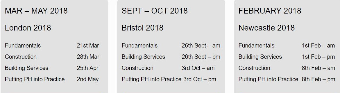 Green Register Passivhaus Bitesize upcoming events