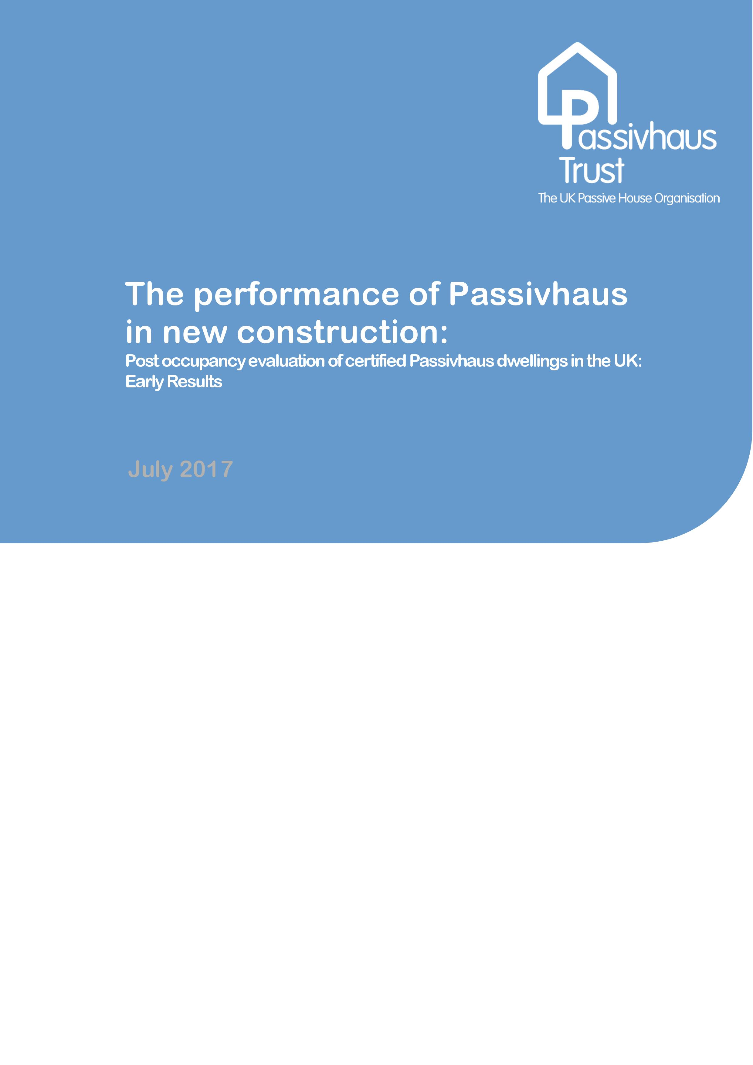 The performance of Passivhaus in new construction