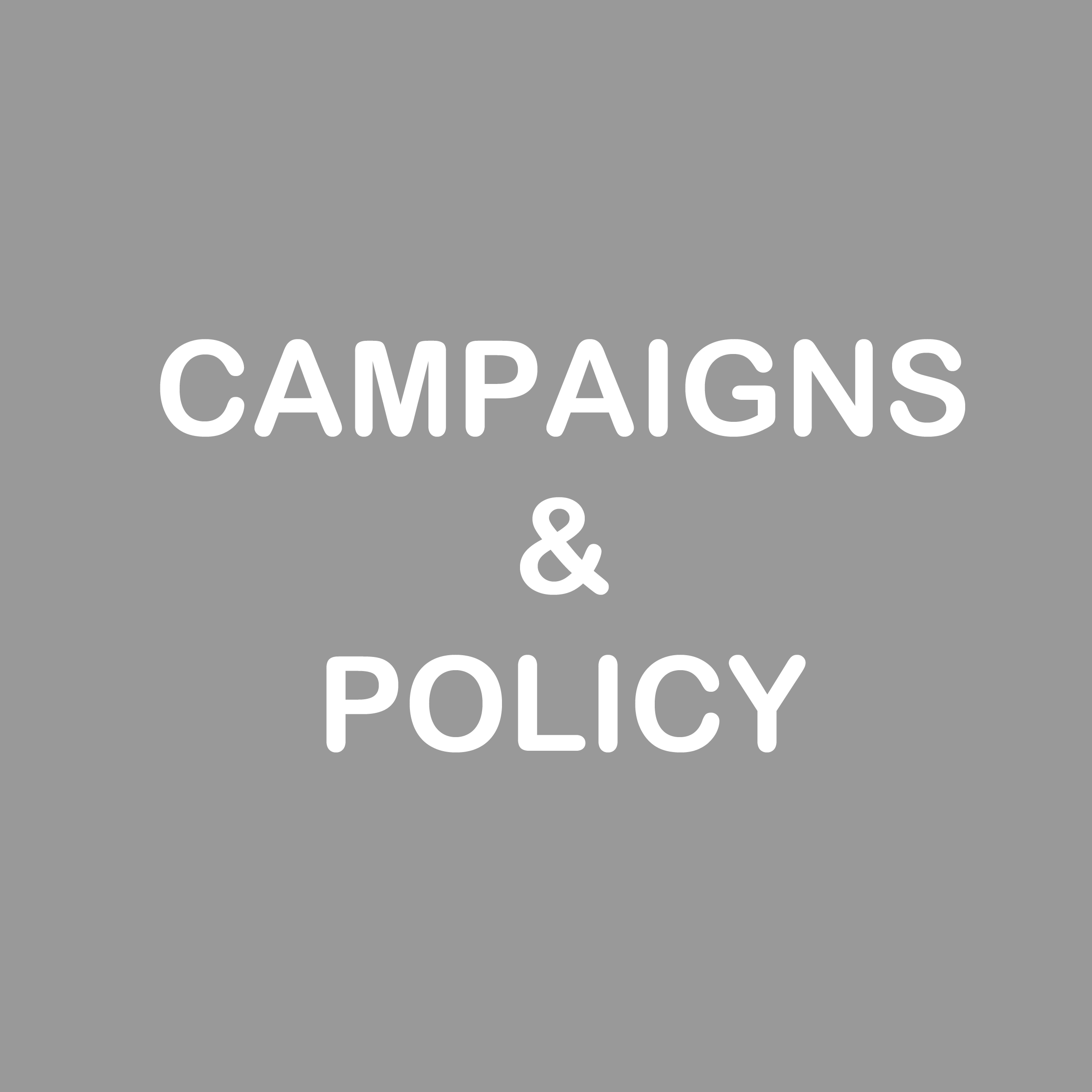 Campaigns & Policy