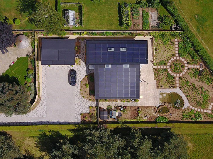 Carrstone House aerial view ©Eco Design Consultants