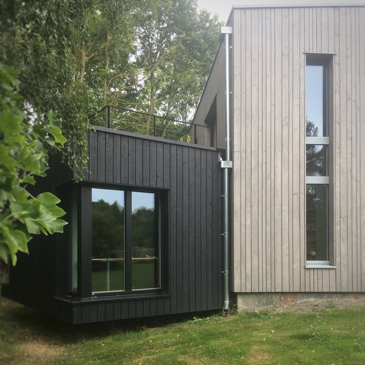 Fishleys Passivhaus from back garden