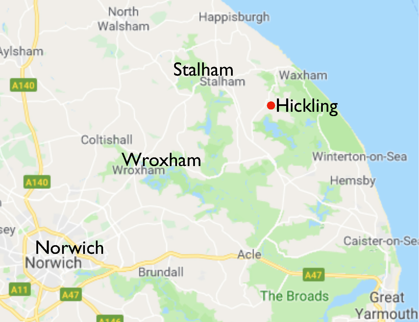 Hickling map