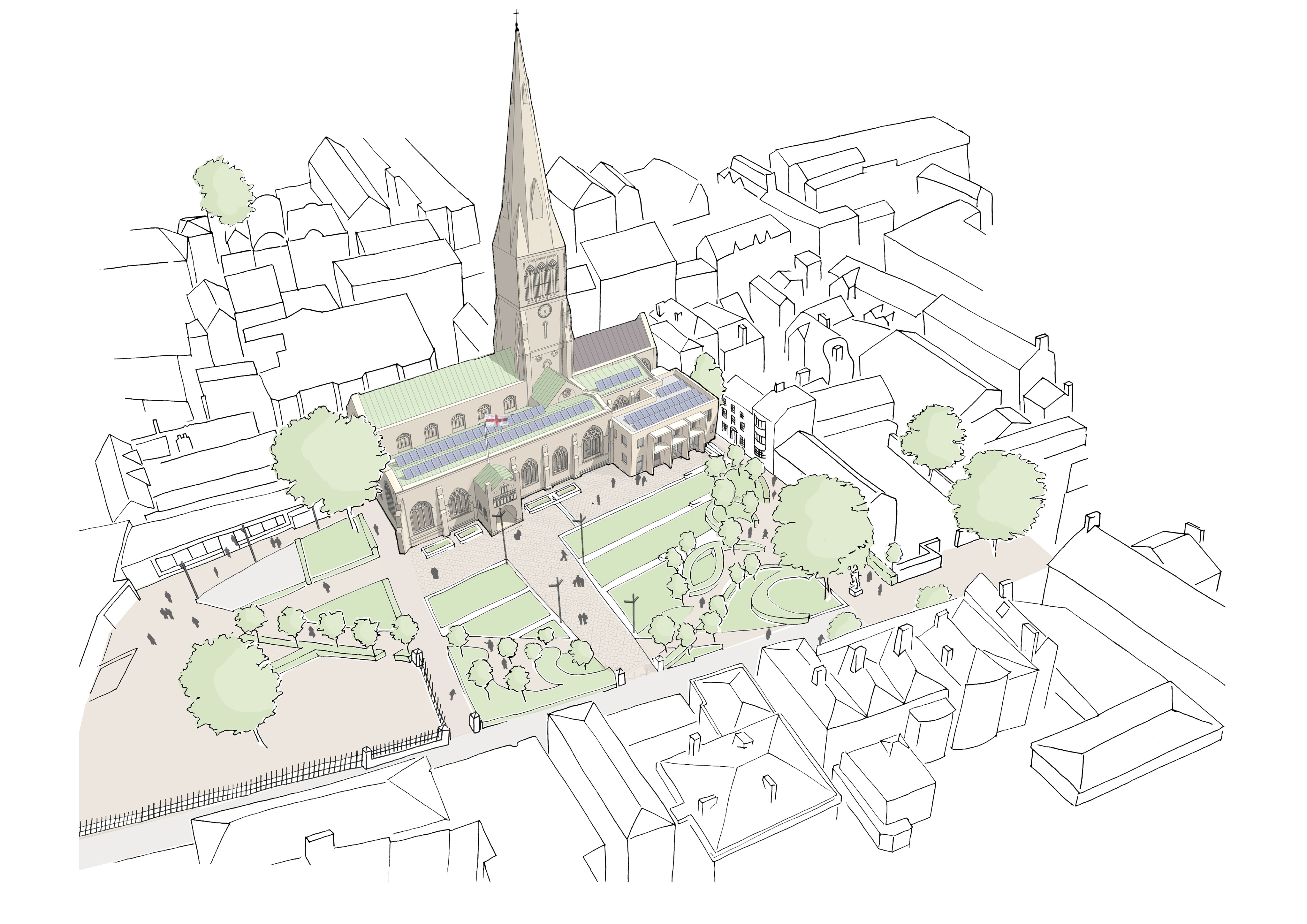 Leicester Cathedral Revealed (c) vHH Architects