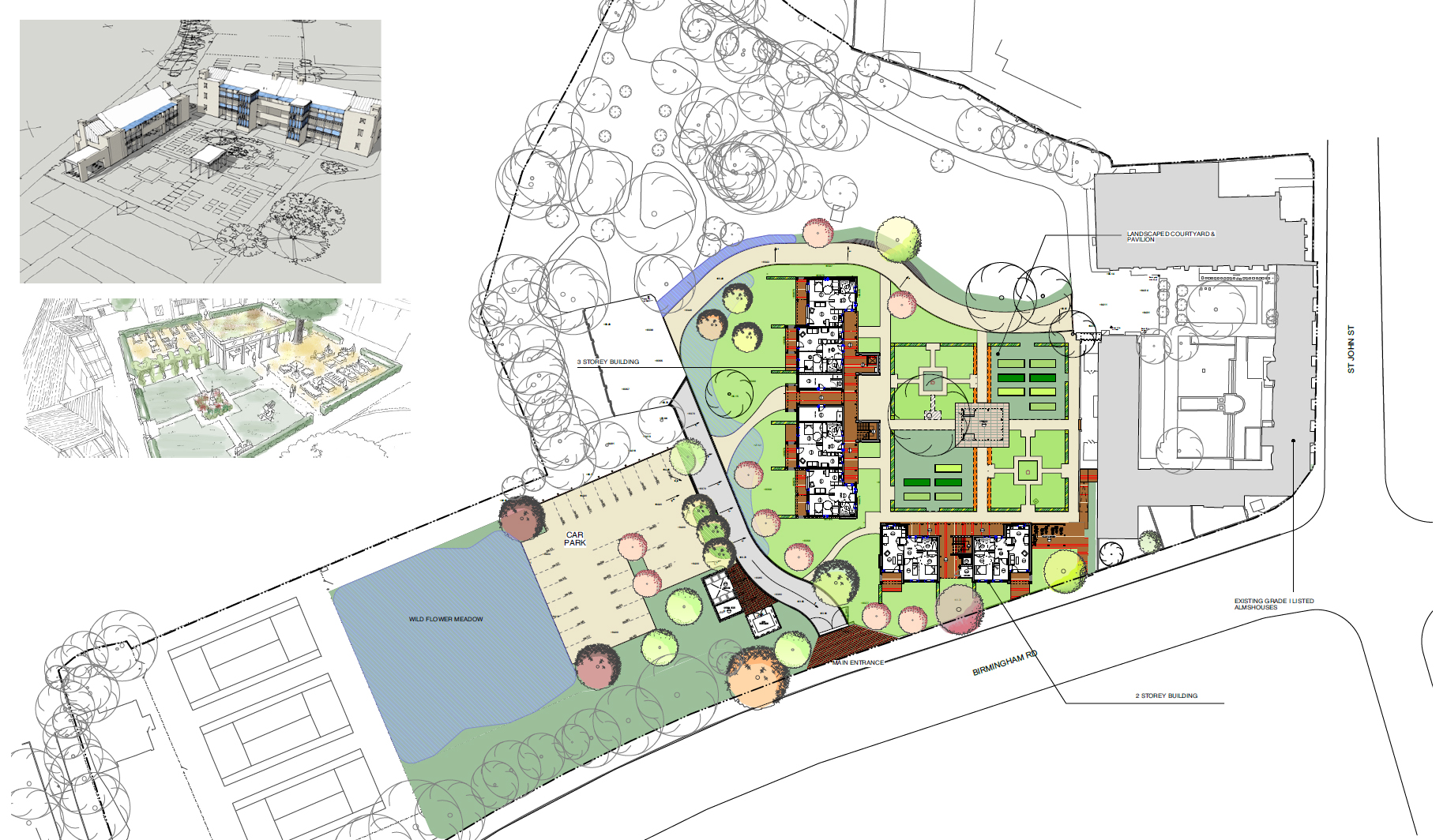 St Johns Almhouses Site Plan
