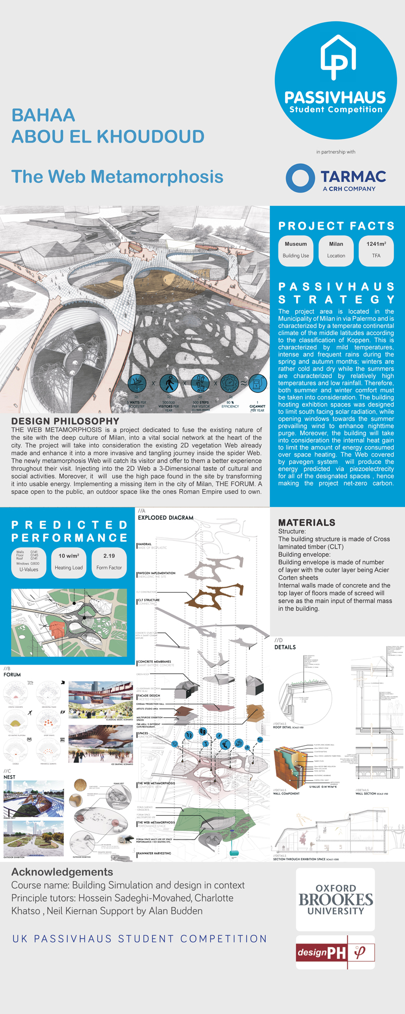 2019 Passivhaus Student Competition: The Web Metamorphosis