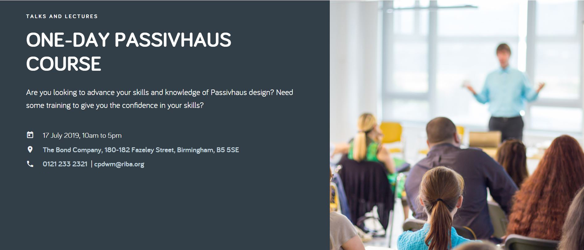 One Day Passivhaus Course 2019