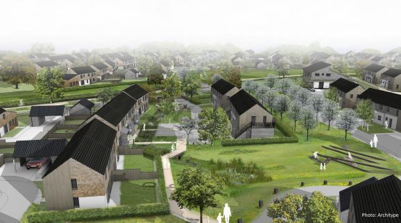 Architype submits planning application for 150 new Passivhaus homes in Herefordshire