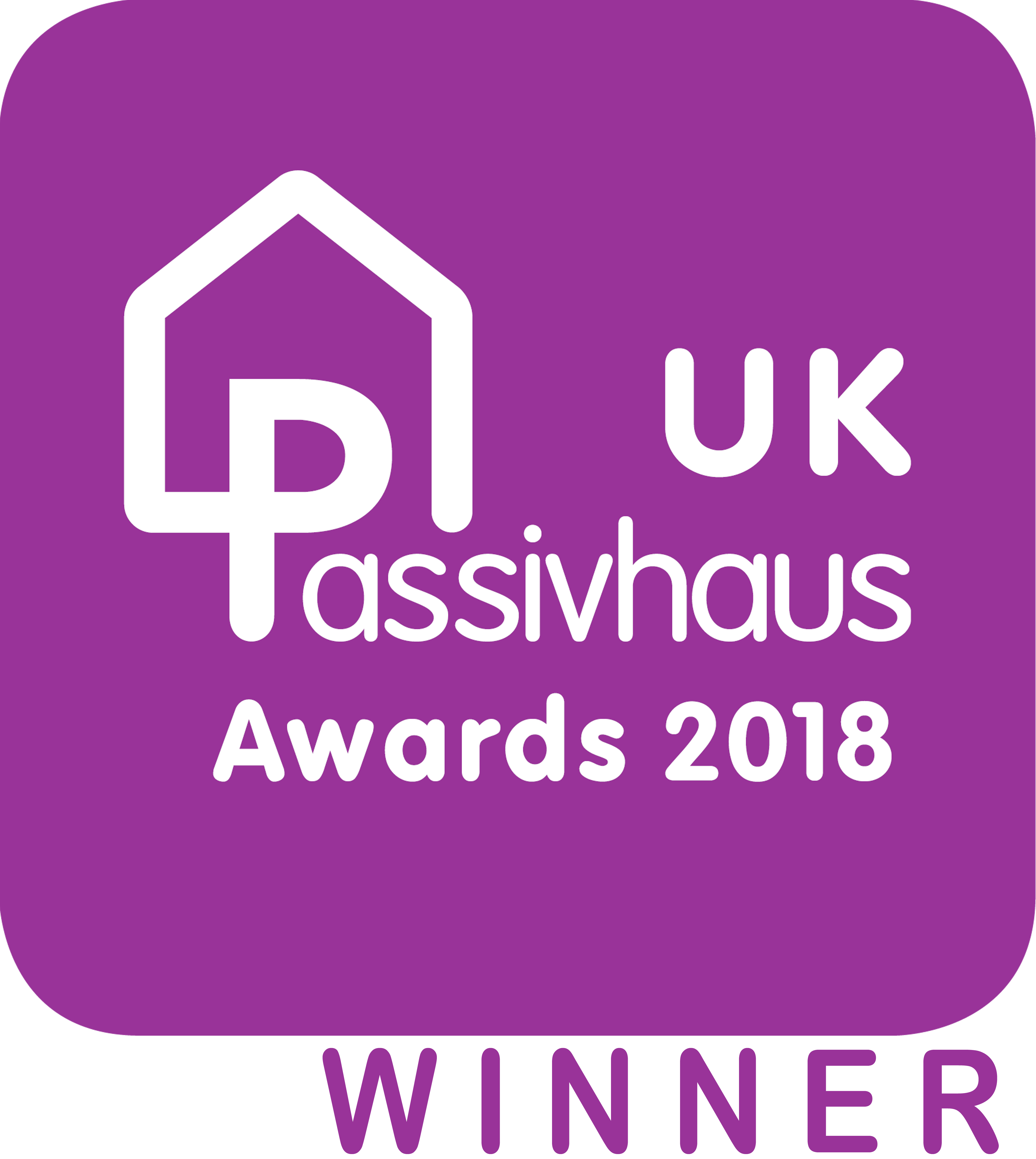 2018 UK Passivhaus Awards WINNER small projects category sponsored by Ecology Building Society