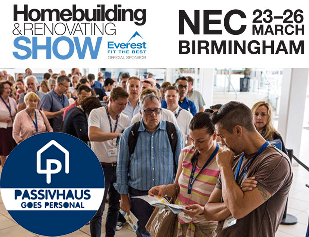 Passivhaus goes Personal at Homebuilding & Renovating Show