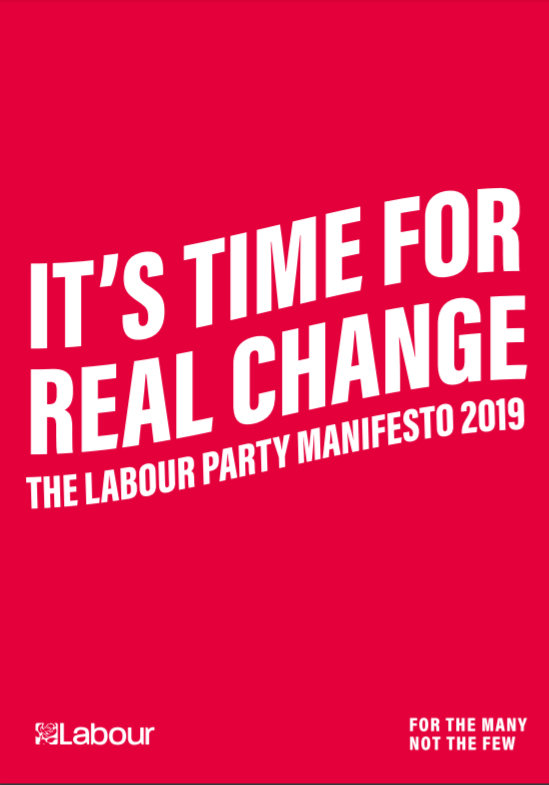 Labour Party 2019 election manifesto