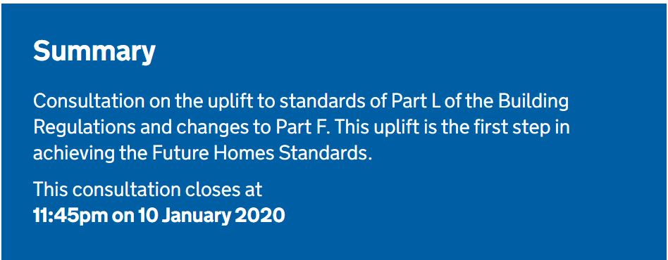 The Future Homes Standard: changes to Part L and Part F of the Building Regulations for new dwellings
