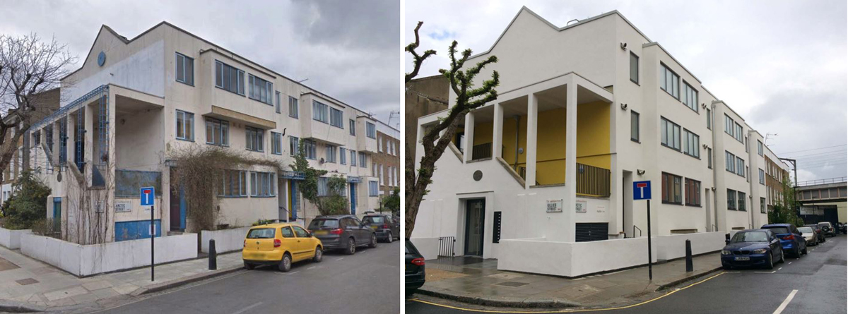 Carlton Chapel House, before and after