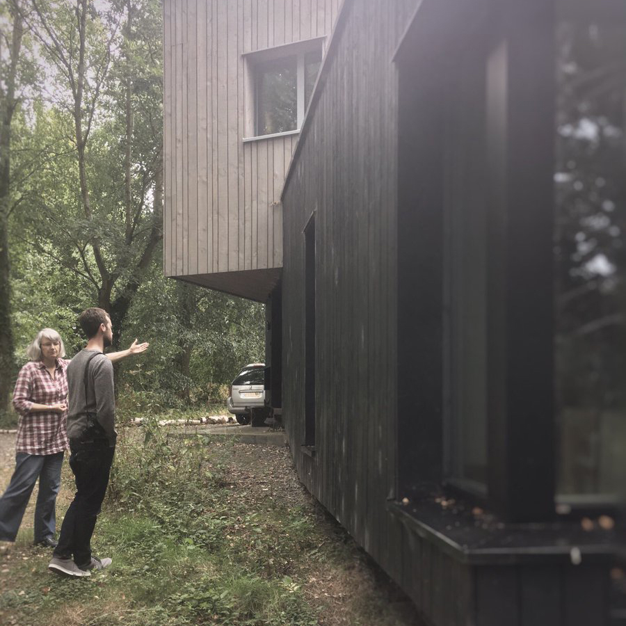 Fishleys Passivhaus with people