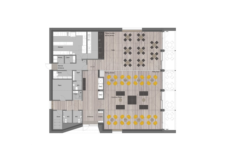 Kellogg College Hub, Ground Floor Plan